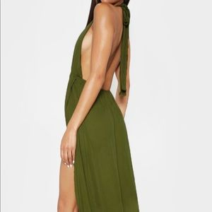 Pretty Little Thing Olive maxi dress